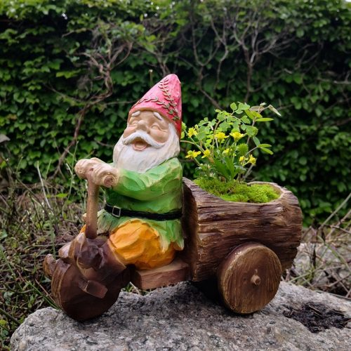 Nain De Jardin En Tricycle